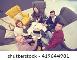 group of young business people  ... | Shutterstock . vector #419644981