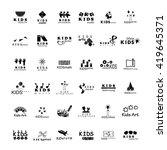children icons set   isolated... | Shutterstock .eps vector #419645371