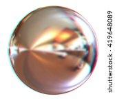 chrome ball 3d render on a... | Shutterstock . vector #419648089
