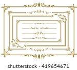 frame set vector  | Shutterstock .eps vector #419654671