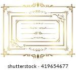 frame set vector  | Shutterstock .eps vector #419654677