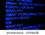 blue program code on black...   Shutterstock . vector #4196638