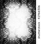 damask wallpaper with place for text - stock photo