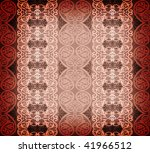 red arabesque background - stock photo