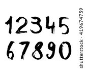 vector set with grunge numbers. ... | Shutterstock .eps vector #419674759