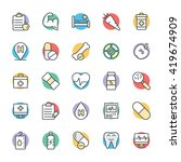 medical and health cool vector... | Shutterstock .eps vector #419674909