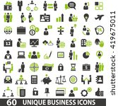 set of 60 business icons.... | Shutterstock . vector #419675011