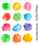watercolor set of isolated... | Shutterstock . vector #419679961