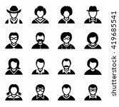 vector people icon set | Shutterstock .eps vector #419685541