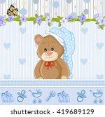 teddy bear for baby boy . baby...   Shutterstock .eps vector #419689129