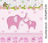 baby shower invitation with... | Shutterstock .eps vector #419689144
