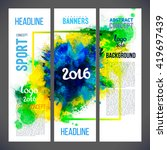 signs 2016 on watercolor ink... | Shutterstock .eps vector #419697439