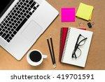 office desktop | Shutterstock . vector #419701591