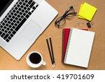office desktop | Shutterstock . vector #419701609