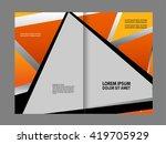 vector empty bifold brochure... | Shutterstock .eps vector #419705929