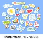 set of stickers with sketch... | Shutterstock .eps vector #419708911