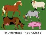 farm animal. flat vector... | Shutterstock .eps vector #419722651
