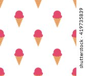 ice cream cone seamless pattern | Shutterstock . vector #419735839