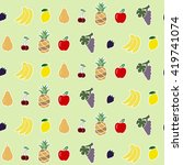 seamless background with fruits ...   Shutterstock .eps vector #419741074