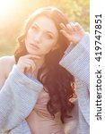 portrait of beautiful sexy girl ... | Shutterstock . vector #419747851