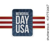 memorial day usa realistic sign ...   Shutterstock .eps vector #419751667