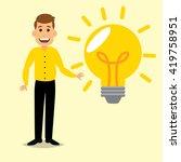 man and light bulb ideas | Shutterstock .eps vector #419758951