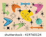 different shapes of the fifties | Shutterstock .eps vector #419760124