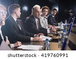 business people attending... | Shutterstock . vector #419760991
