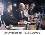 business people attending... | Shutterstock . vector #419760991