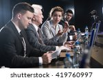scientists and business people... | Shutterstock . vector #419760997