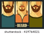 hand drawn. portraits of three... | Shutterstock .eps vector #419764021