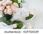 vintage wedding table... | Shutterstock . vector #419764339