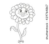 Cartoon Character Flower. Funn...