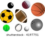 collection of various sports... | Shutterstock .eps vector #4197751