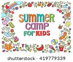 doodle summer vector...   Shutterstock .eps vector #419779339