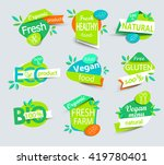 modern vector set of healthy... | Shutterstock .eps vector #419780401