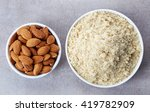 bowl of almond flour and bowl...   Shutterstock . vector #419782909
