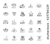 golf icons set   isolated on... | Shutterstock .eps vector #419784139