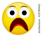 fear and surprise emotion.... | Shutterstock .eps vector #419789401