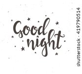 good night.  hand drawn... | Shutterstock .eps vector #419790514