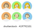operators icon for the call... | Shutterstock .eps vector #419792101