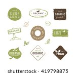 collection of organic food... | Shutterstock .eps vector #419798875