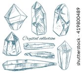 rock crystal hand drawn... | Shutterstock .eps vector #419800489