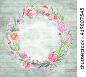Shabby Chic Background With...
