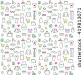 seamless pattern with clothes... | Shutterstock .eps vector #419813071