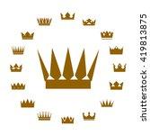 set of golden crowns. vector... | Shutterstock .eps vector #419813875