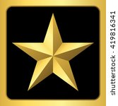 gold star icon. pentagonal sign ... | Shutterstock . vector #419816341