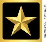 gold star icon. pentagonal sign ... | Shutterstock . vector #419816341