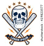 skull with baseball bats | Shutterstock .eps vector #419823577