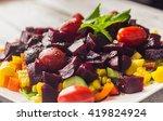 beetroot corn salad | Shutterstock . vector #419824924